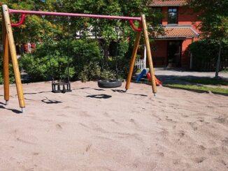 Effektivt underhåll sand lekplats